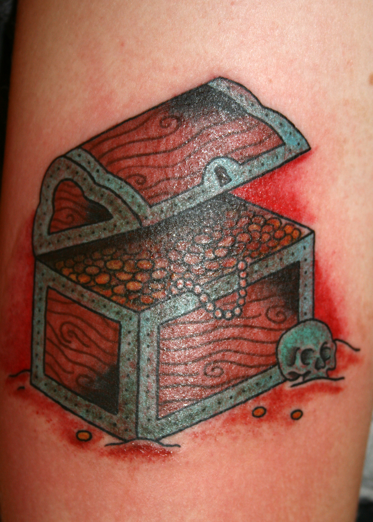 Treasure Chest Tattoo: Death Goes To The Winner